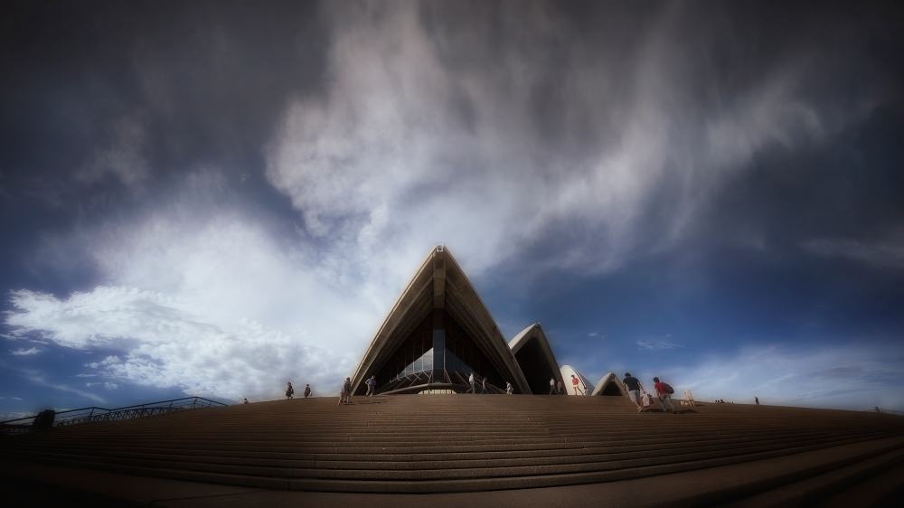 Storm clouds over Sydney Opera House
