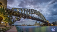Storm over sydney harbour bridge 2015