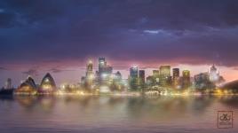 Bokeh city Sydney Harbour 200216